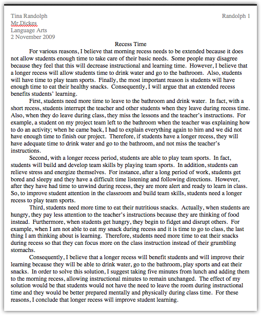 5 paragraph essay layout