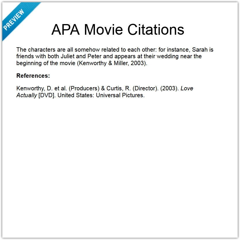 APA Movie Citations