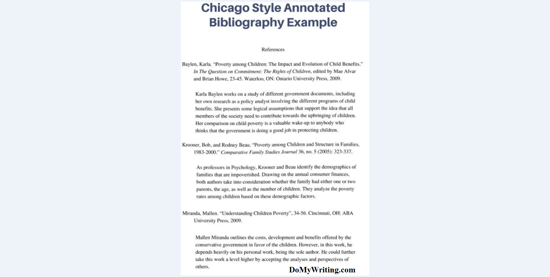 Sample Annotated Bibliography Apa View