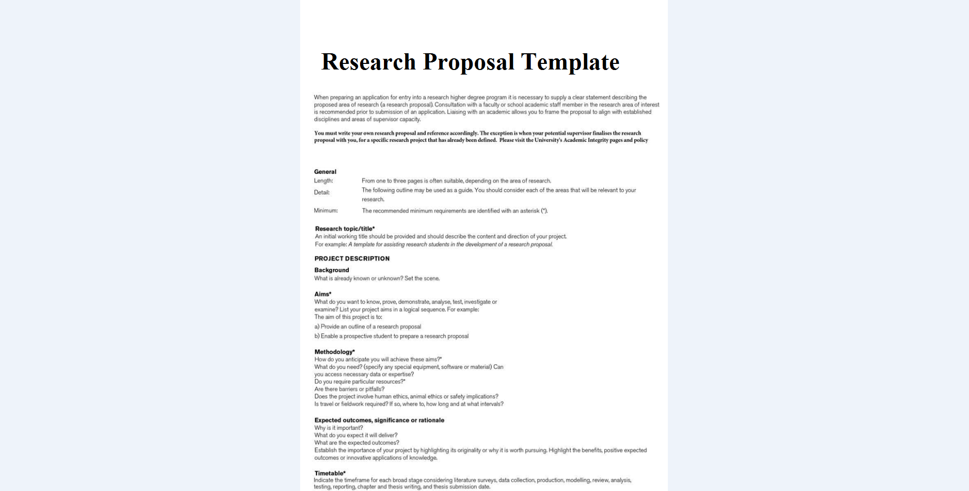 8 Research Plan Templates - Free Sample, Example Format ...