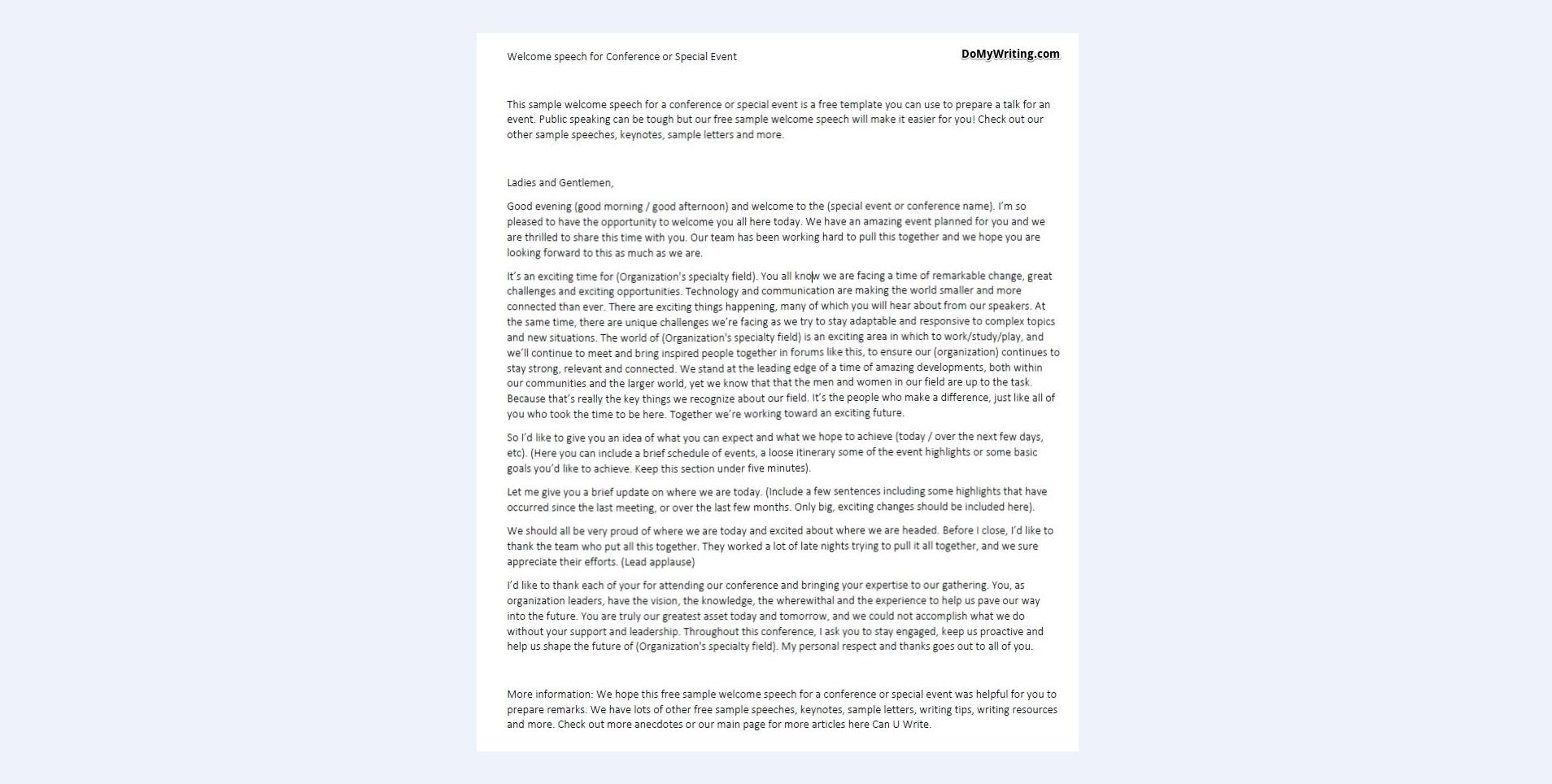 A speech essay
