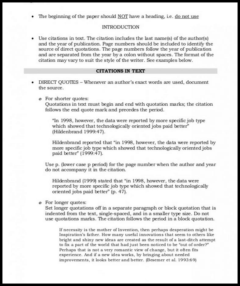 Asa Format Citation