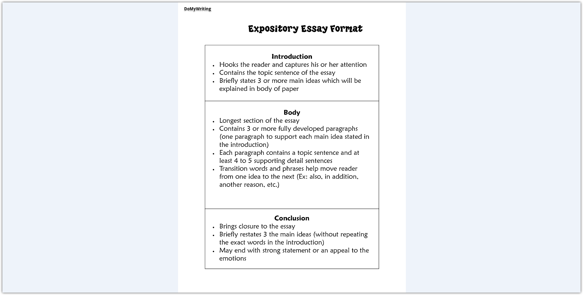 guide to write a winning expository essay