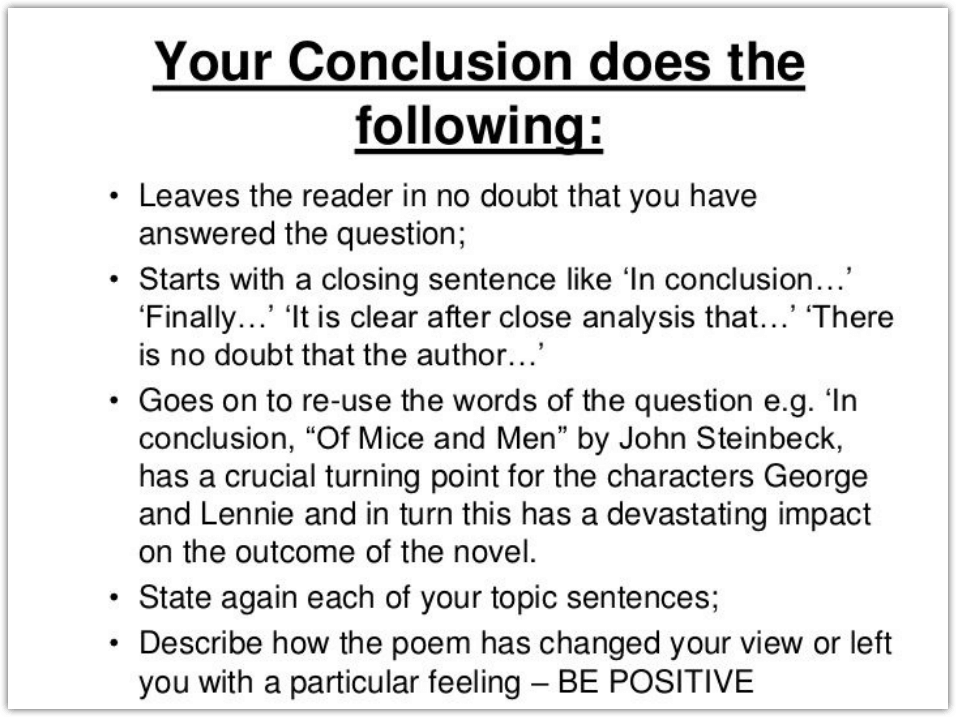 How to make a conclusion for an essay