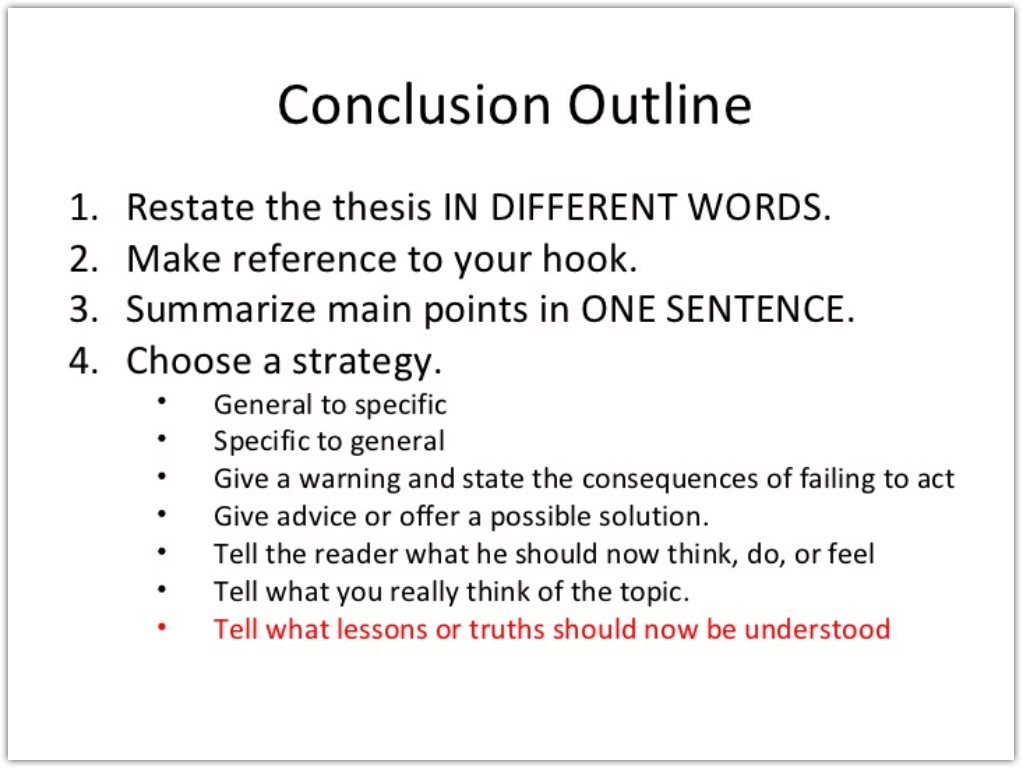 How to Write a Conclusion Outline