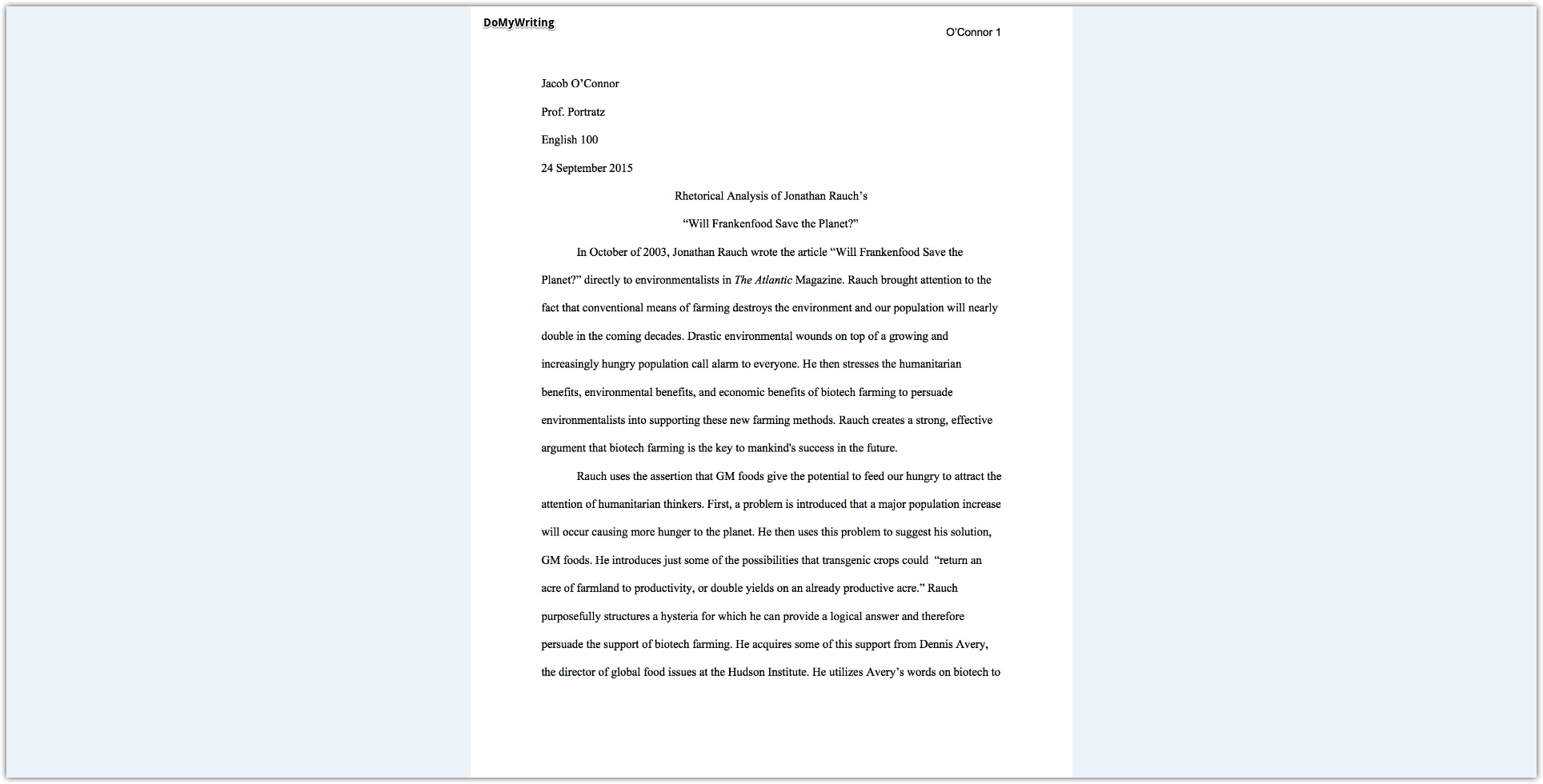 What is a rhetorical essay